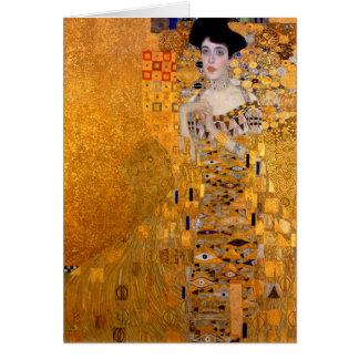 "Cartão Vintage do retrato de Gustavo Klimt ""Adele"""