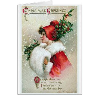 """Cartão Vintage dos """"cartões de natal"""""""