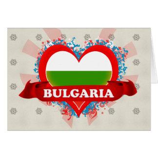 Cartão Vintage eu amo Bulgária
