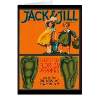 Cartão Vintage Jack do KRW e etiqueta da caixa das