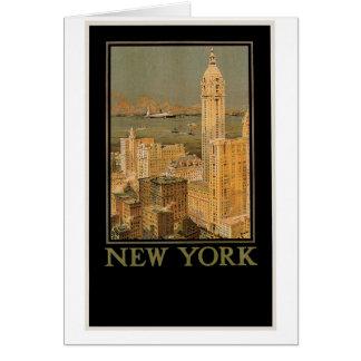 Cartão Vintage New York de Glasgow pela linha da âncora