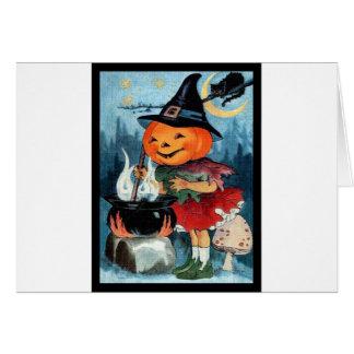 Cartão Vintage o Dia das Bruxas
