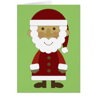 Cartão Vintage Papai Noel do país