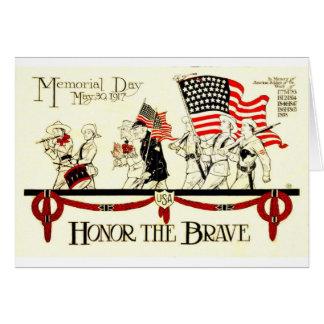 Cartão Vintage poster de 1917 Memorial Day