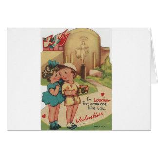 """Cartão vintage """"que procura o"""" namorados"""