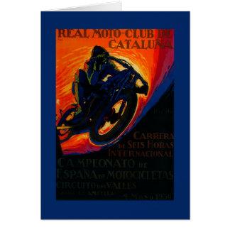 Cartão Vintage real PosterEurope do clube de Moto
