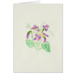Cartão violeta