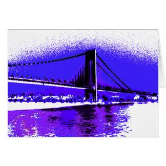 Cartão violeta da ponte de Verrazano
