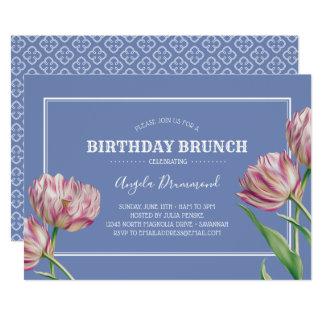 Cartão Violeta da refeição matinal do aniversário da flor