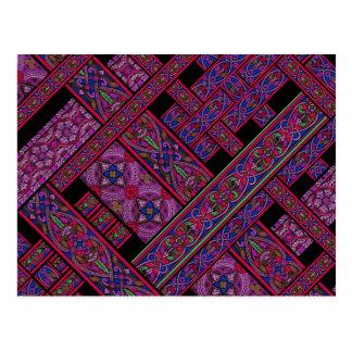 Cartão violeta do vitral da Aurora Cartoes Postais