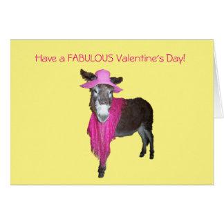 Cartão Violeta o asno vestido no rosa