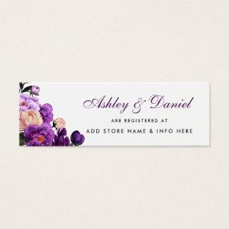 Cartão violeta roxo Wedding da inserção do