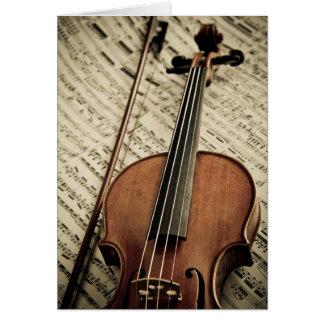 Cartão Violino