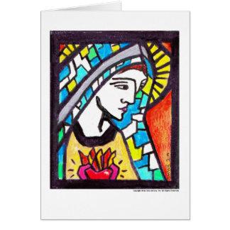 Cartão Virgem Maria