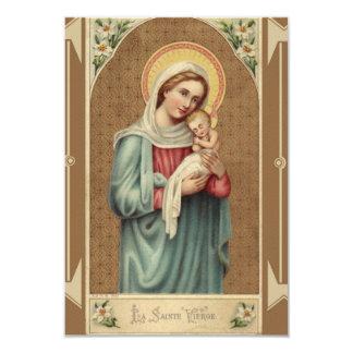 Cartão Virgem Maria abençoada com bebê Jesus NoteCard