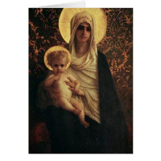 Cartão Virgin e criança, 1872