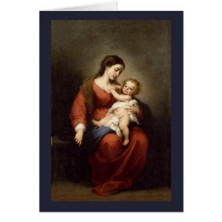 Cartão Virgin e criança do cristo