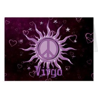 Cartão Virgo de Sun da paz