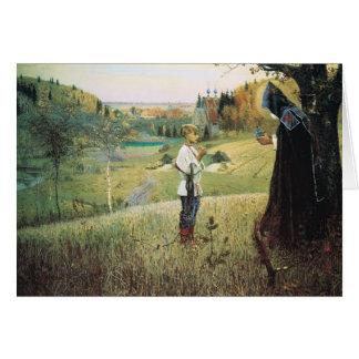 Cartão Visão de Mikhail Nesterov- do Bartholomew novo