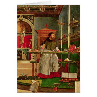 Cartão Visão de St Augustine, 1502-08