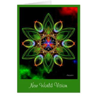 Cartão Visão nova do mundo