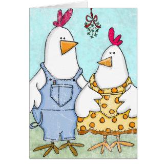 Cartão Visco da galinha