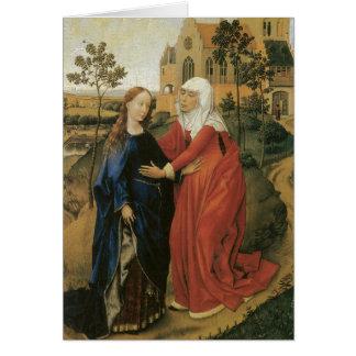 Cartão Visitação de Mary - Rogier van der Weyden