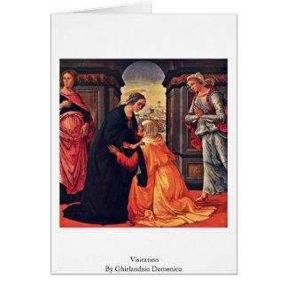 Cartão Visitação por Ghirlandaio Domenico