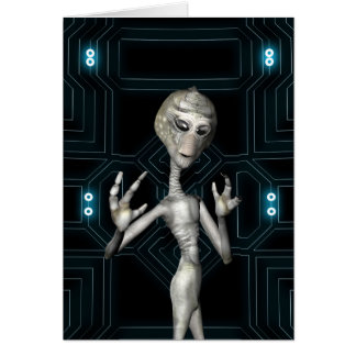 Cartão Visitante amigável da alienígena da ficção
