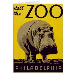 Cartão Visite o jardim zoológico!!