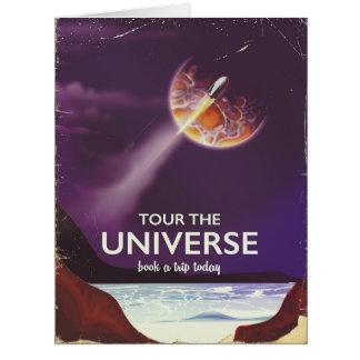Cartão Visite o poster da ficção científica do vintage do