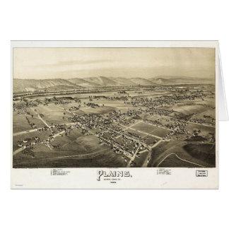 Cartão Vista aérea das planícies, Pensilvânia (1892)