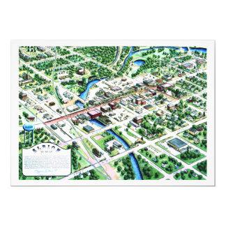 Cartão Vista aérea de Albion Michigan 1993