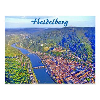Cartão - vista aérea de Heidelberg