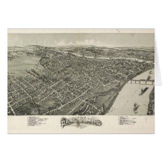 Cartão Vista aérea de Parkersburg, West Virginia (1899)