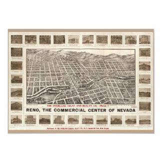 Cartão Vista aérea de Reno, Nevada (1907)