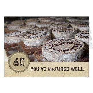 Cartão Vista bom no queijo velho do 60th aniversário 60