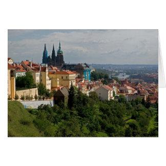 Cartão Vista da catedral de Vitus do santo, Praga, checa
