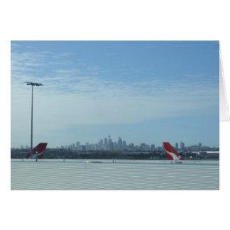 Cartão Vista da cidade de Perth do aeroporto