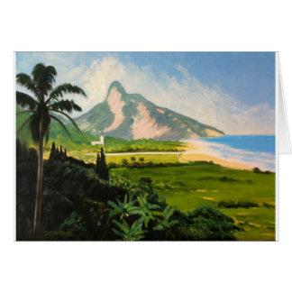 Cartão Vista da praia de Gavea