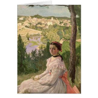 Cartão Vista da vila, Castelnau, 1868
