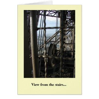Cartão Vista das escadas