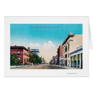 Cartão Vista de décimo nono StreetBakersfield, CA