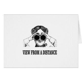 Cartão vista de uma distância