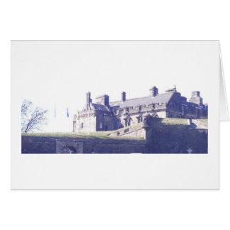 Cartão Vista do castelo de Stirling