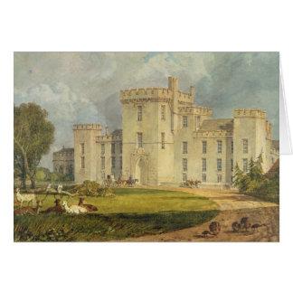 Cartão Vista do Hampton Court do noroeste, c.1806