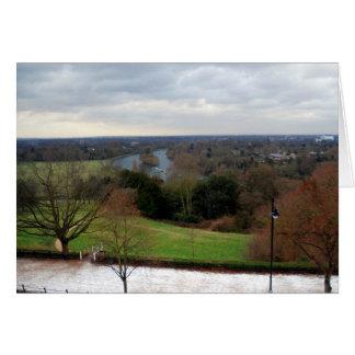 Cartão Vista do terraço do monte de Richmond, Surrey,