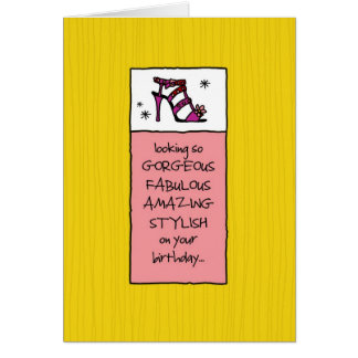Cartão Vista fabuloso em seu aniversário