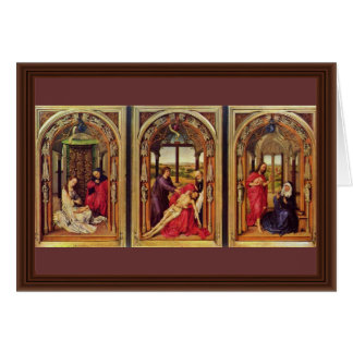 Cartão Vista geral do Triptych do altar de Marie (altar