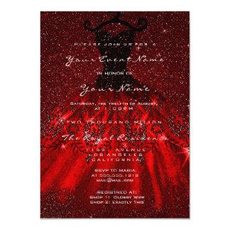 Cartão Vista Lux vermelho dos corações nupciais de